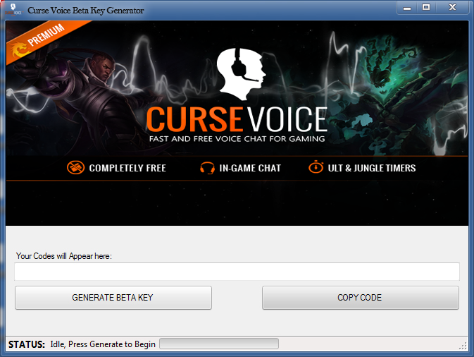 Curse Voice Beta Key