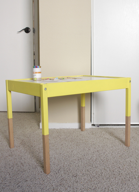 swoon studio ikea hack dipped children 39 s table