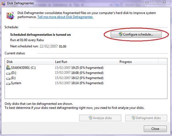 Cara Mengubah Schedule Pengaturan Jadwal Disk Defragmenter Secara Otomatis
