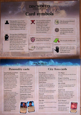 Discworld: Ankh-Morpork - A Player Aid Card