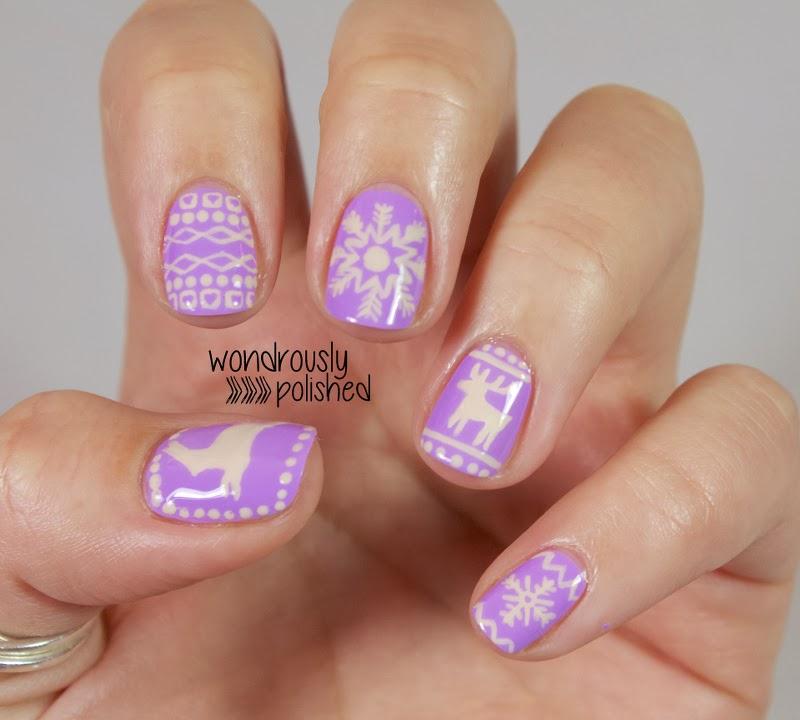 Wondrously Polished: December Nail Art Challenge - Day 1: Pattern