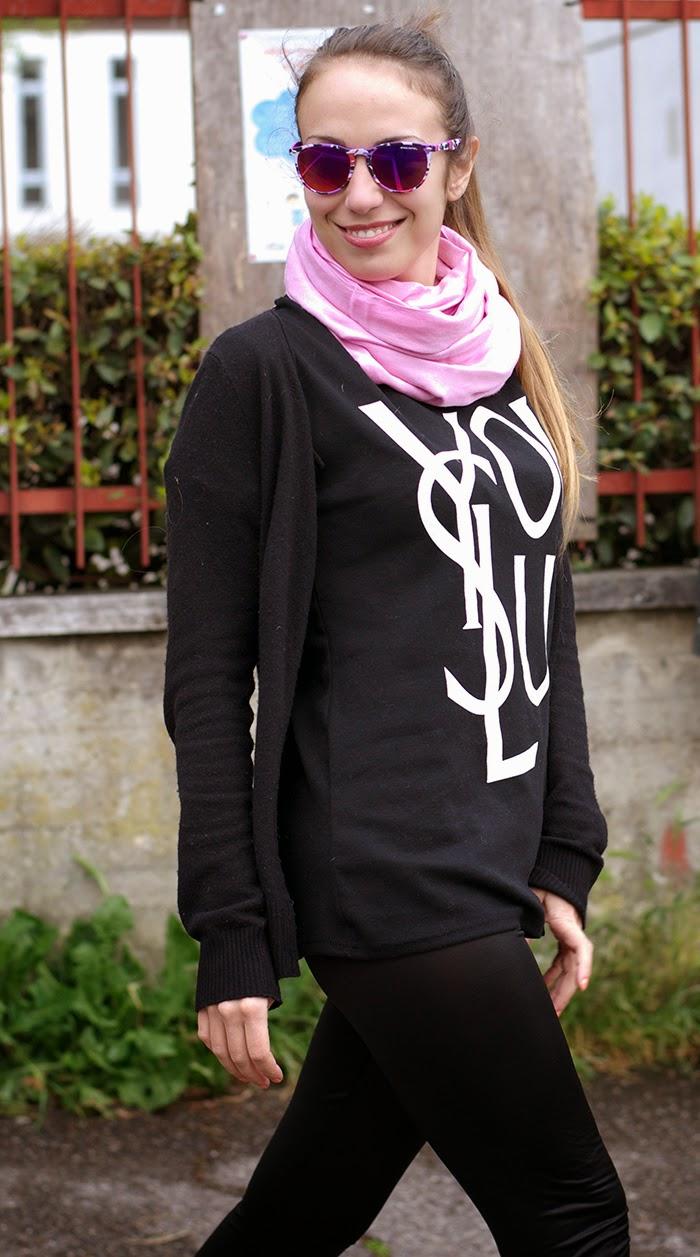 sciarpa rosa
