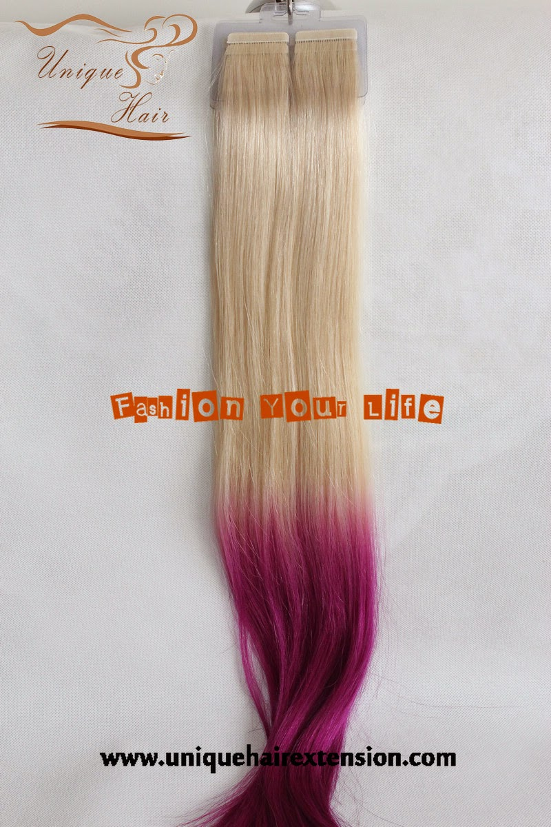 Ombre tape hair extensions
