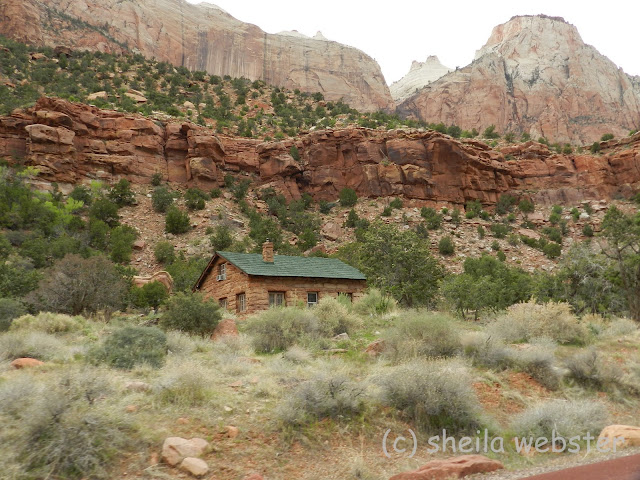 A cabin on the hillside in Zion National Park