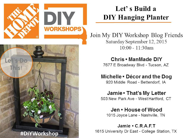 Home Depot Workshop: DIY Hanging Planter