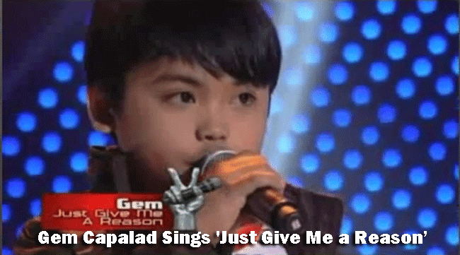 Gem Capalad Sings 'Just Give Me a Reason' on The Voice Kids Blind Audition