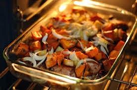 lomo asado verduras