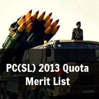 PC(SL) 2013 Quota Merit List