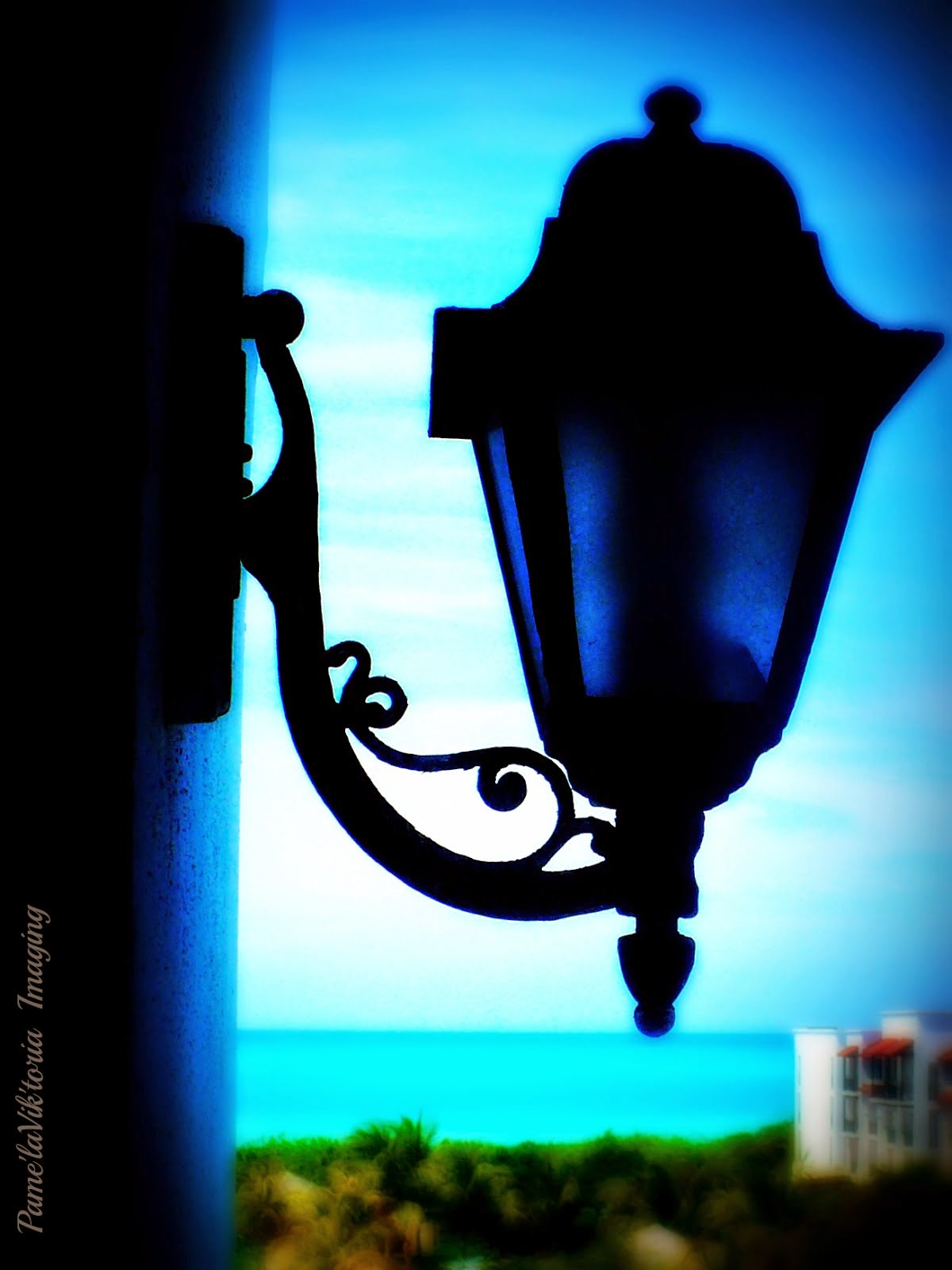 Wrought Iron Lamp by Ocean