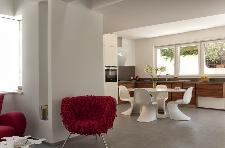 Kitchen interior in Modern villa Di Gioia by Pedone Working
