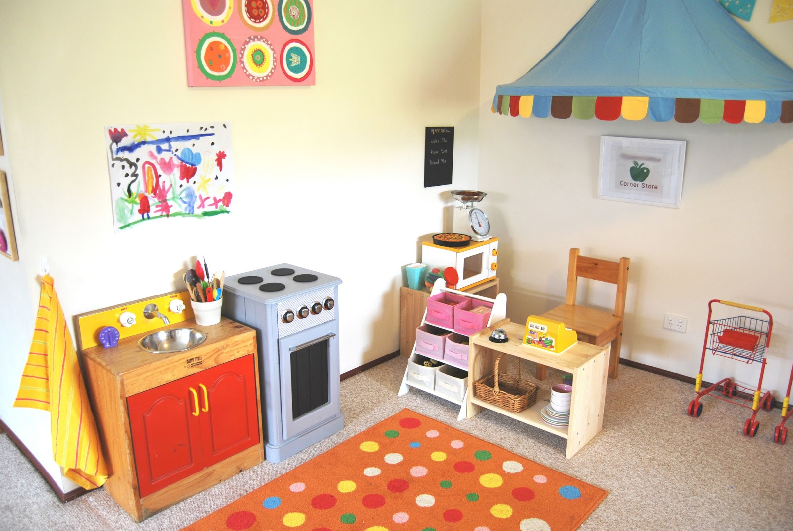 A little learning for two play room tour shop corner Home and kitchen shopping