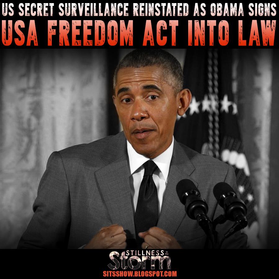 US Secret Surveillance Reinstated as Obama Signs USA ...