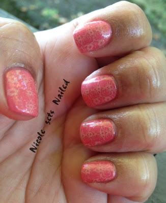 Salmon Pink Bundle Monster Stamping Plates