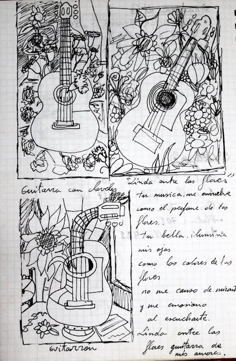Guitarra de claveles