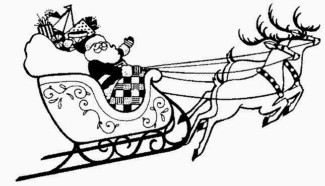 Coloring pages reindeer coloring pages free and printable for Santa and reindeer coloring pages printable