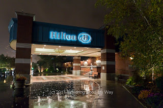 Entrance to Hilton Hotel in Fairlawn, Ohio