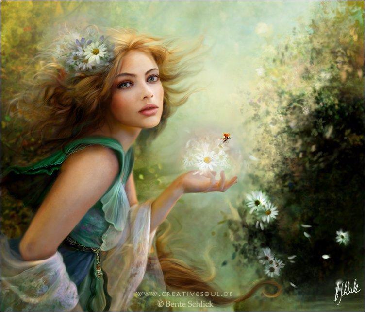 beautiful art of a lady