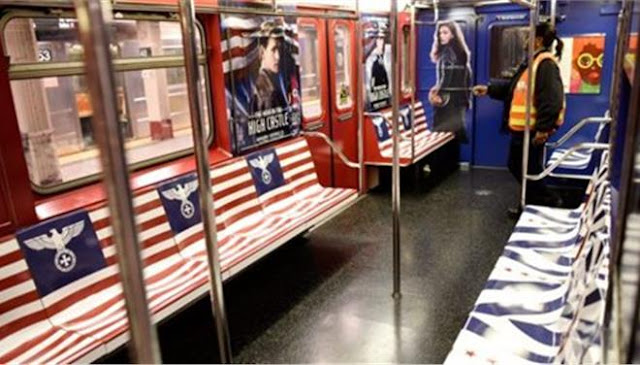 Γέμισε το μετρό στην Νέα Υόρκη με τον Γερμανικό αετό και το σύμβολο του Σταυρού των Ιπποτών σε διαφήμιση τηλεοπτικής σειράς της Amazon!