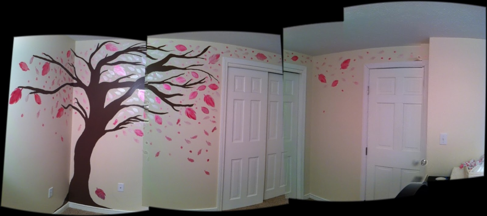 silver magpie studio whimsical tree mural this week the studio went mobile as i traveled to do a very special mural for a very special little girl working with her parents we developed a whimsical