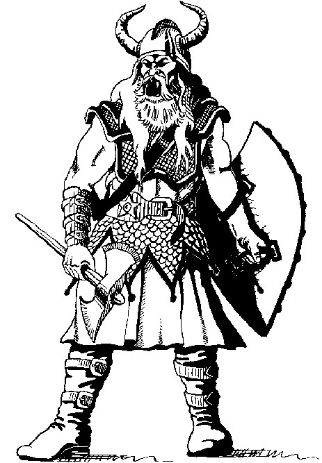 how to draw a viking god