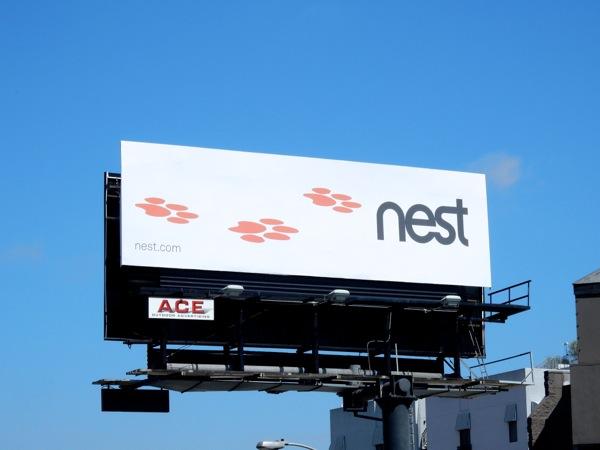 Nest Cam paw print billboard