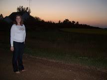 Girls Barefoot at Night
