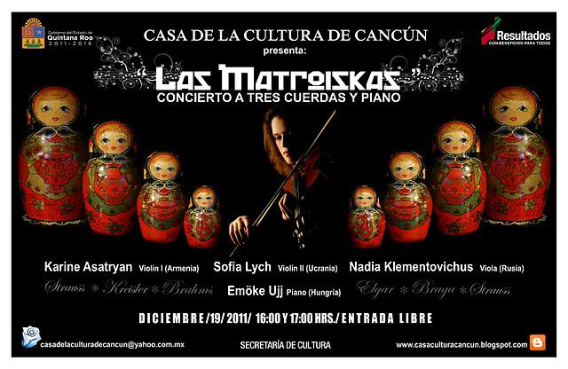 Las colaboraciones concierto las matroiskas for Casa piscitelli musica clasica