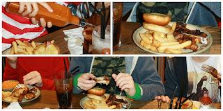 Nandos-food-birthday-eating-son-friends