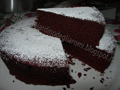 Ricetta torta cioccolato morbida senza uova bimby