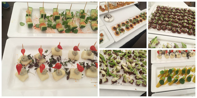 Canapes at Wodschow anniversary on Friday 2015 06 05