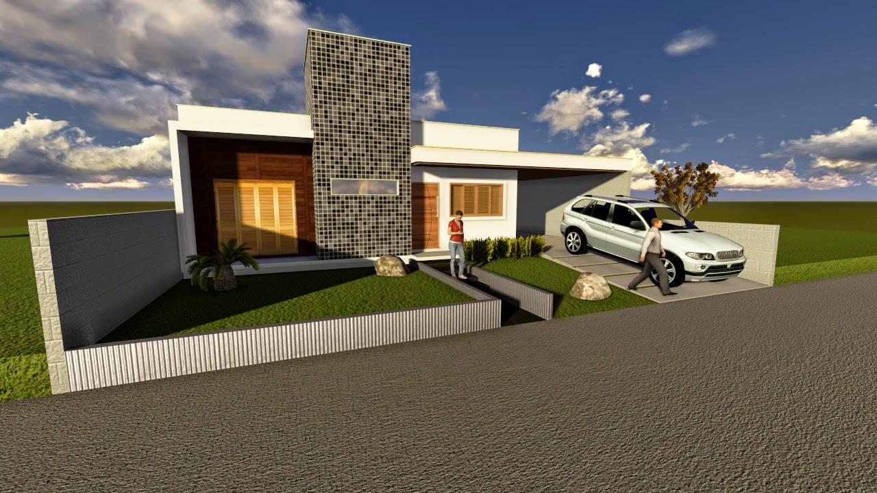 Projetos de casas t rreas for Casas modernas de 70m2