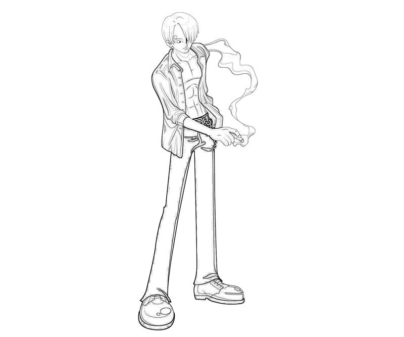 One Piece Coloring Pages http://mariothemes.blogspot.com/2012/11/one-piece-sanji-smoking.html