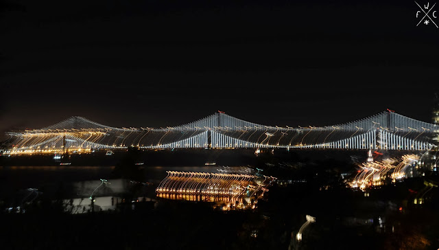 Bay Bridge by night