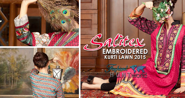 Designer Embroidered Lawn Kurti Collection By Salitex