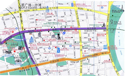 Shanghai Map Nanjing Road