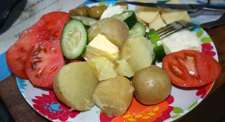 Hugely tasty salad dinner