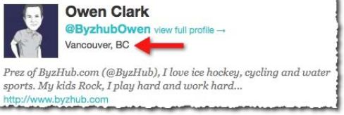 Owen Clark's Twitter profile