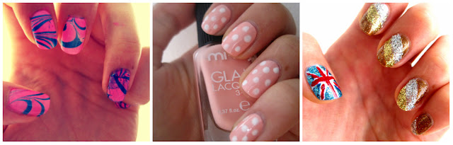 water marble nails nail art pink pastel polka dot nails olynpic glitter w7 gold nails holiday glitter nails
