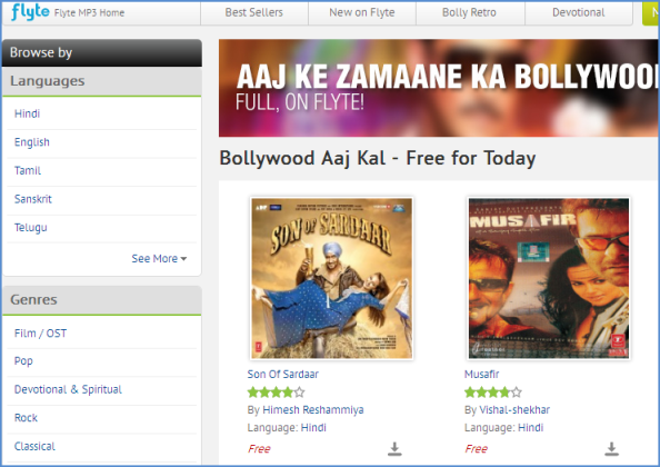 Download 1000+ Free Music Albums from FlipKart