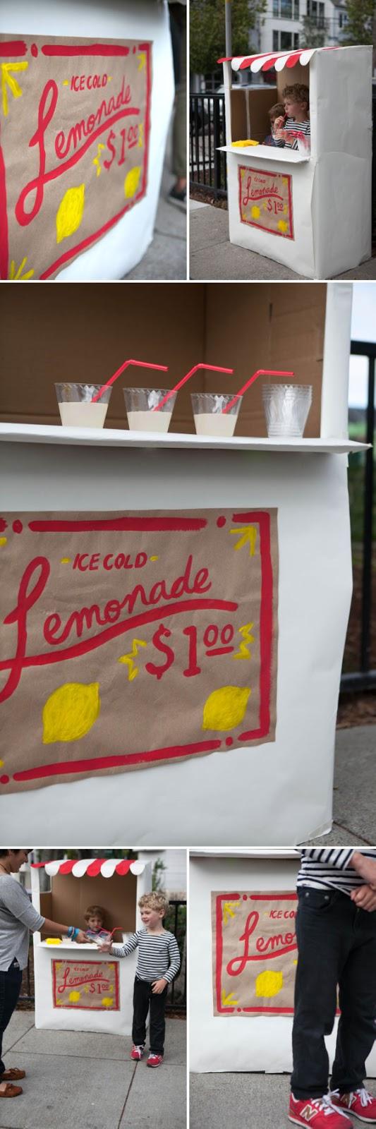 DIY Un puesto de limonada de carton, DIY, Elzzia, lever du soleil, Ourense, Tutorial