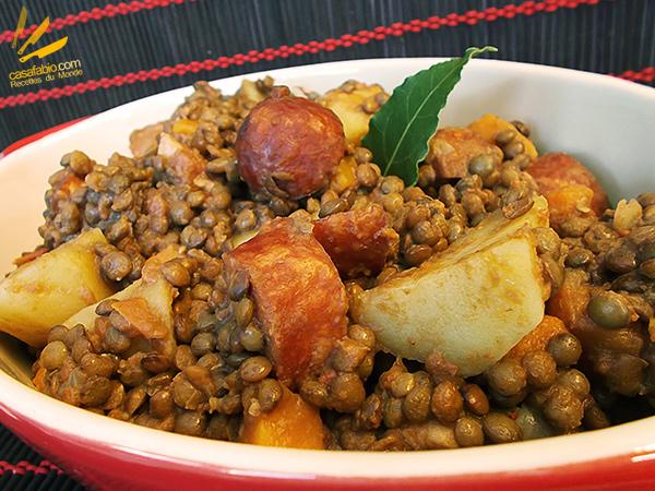 Lentilles aux saucisses de Montbéliard