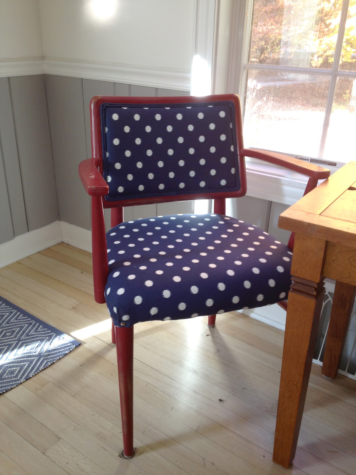 Darling Dots: How To Recover A Chair