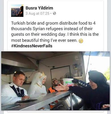 Empat Ribu Pelarian Syria Menjadi Tetamu Di Sebuah Perkawinan Di Turki