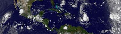 OPHELIA wieder Tropischer Sturm, HILARY & PHILIPPE bauen weiter ab, aktuell, Hilary, Philippe, Ophelia, Satellitenbild Satellitenbilder, September, Verlauf, Vorhersage Forecast Prognose, 2011, Hurrikansaison 2011,