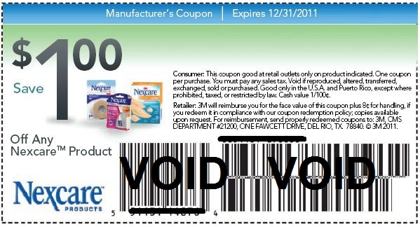 purchased 10 x band aids shown above coupon i used which states 1 coupon per purchase