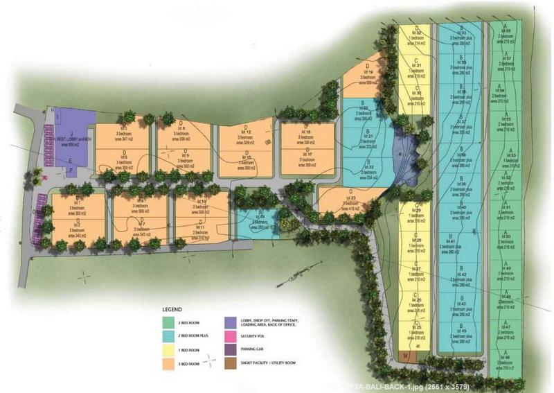 Siteplan the matta Villa Jimbaran