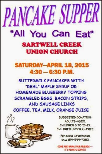 4-18 Pancake Supper Sartwell Creek