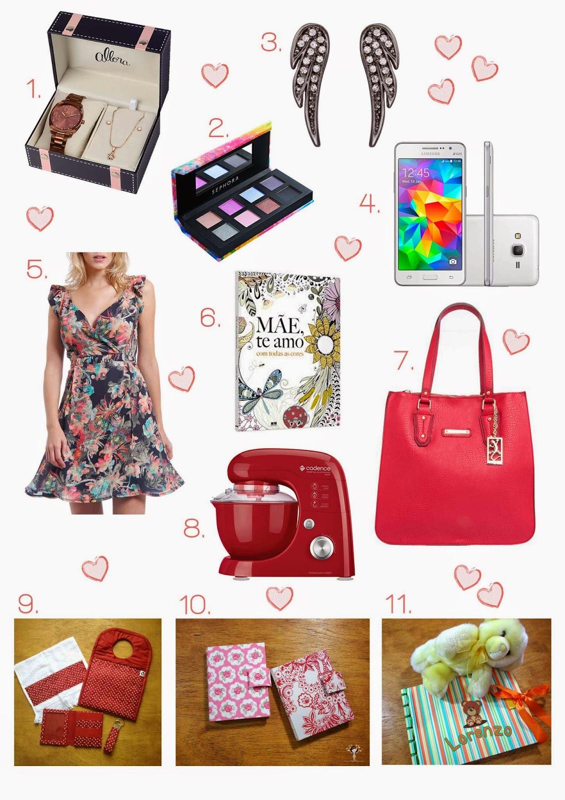 11 ideia de presentes para o Dia das Mães