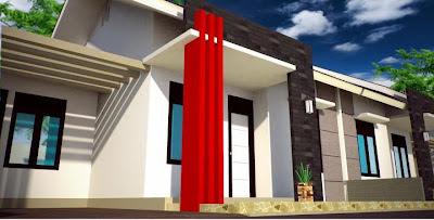 Tampak depan rumah minmalis modern, rumah minimalis Modern, kopel  type 70, 65, 56