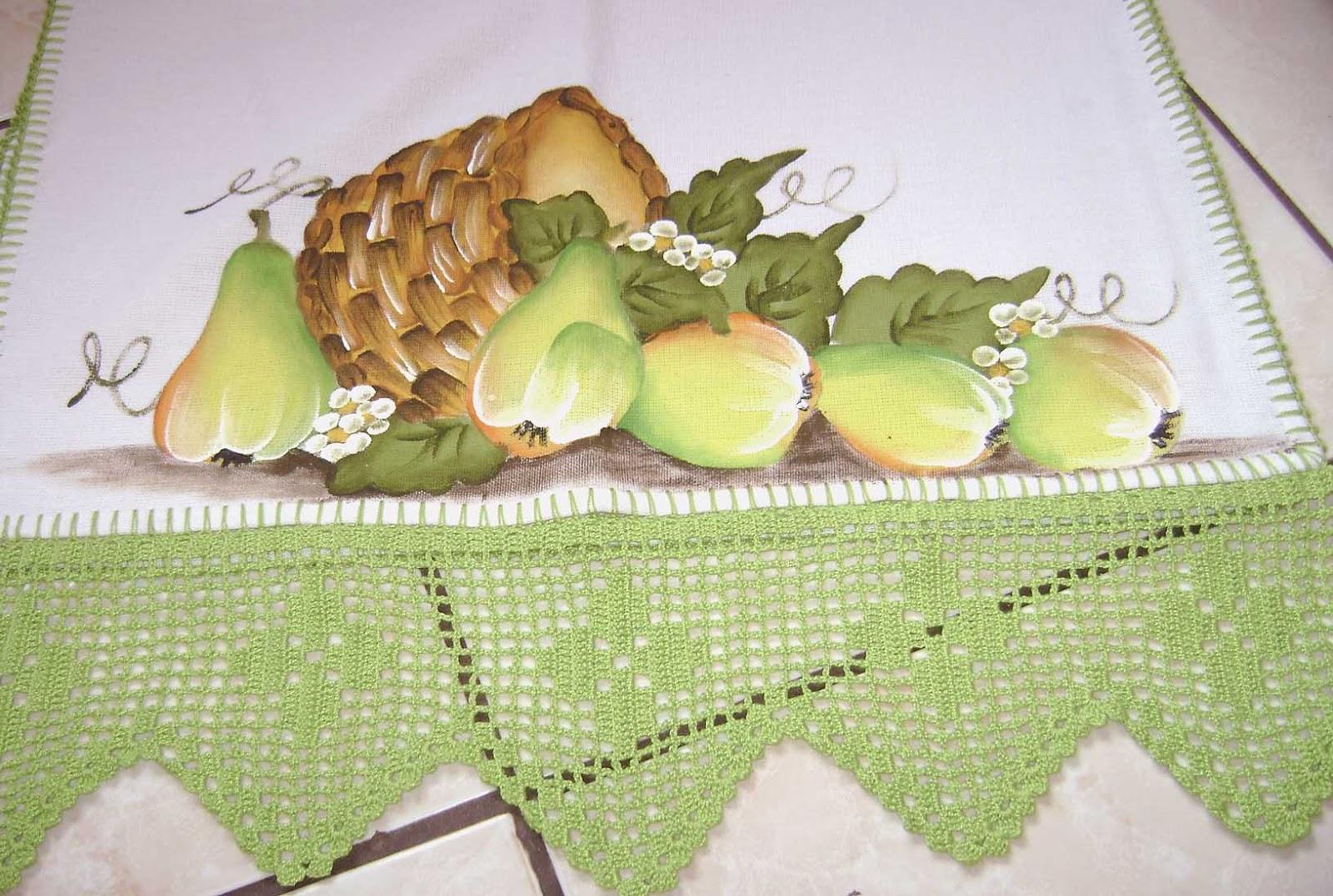 O Que Mais Vende Em Artesanato ~ Cantinho da Pintura em Tecido cestas com p u00earas e morangos